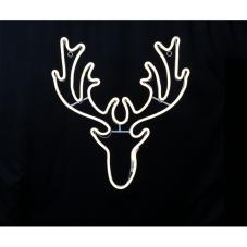 Подвес Голова оленя NEOLED, 74 см, белый