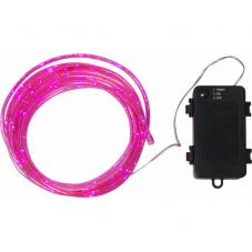 Гирлянда для улицы на батарейках TUBY, 5.5 м, розовый