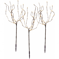 Дерево декоративное TOBBY TREE 3 штуки, 90 см,  коричневый