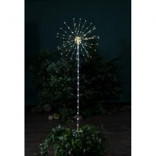 Светильник декоративный для улицы FIREWORK OUTDOOR на батарейках, 8 режимов,высота100 см, серебряный