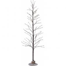 Дерево декоративное  TOBBY TREE, высота 150 см, ширина 70 см, коричневый, теплый белый