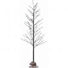 Дерево декоративное  TOBBY TREE, высота 180 см, ширина 90 см,  коричневый, теплый белый