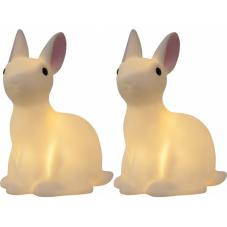 Светильники декоративные светодиодныеLED POLLY Кролики, на батарейках, 2 штуки, высота 15 см