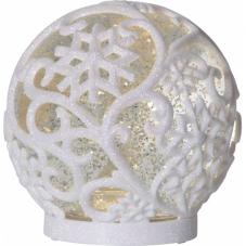 Светильник рождественский FROST, 16 см, белый, прозрачный