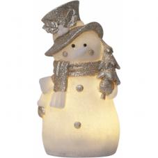 Светильник рождественский BUDDY на батарейках, 20 см, белый, серебристый