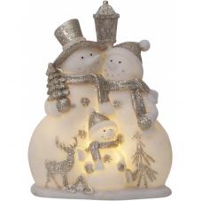 Светильник рождественский BUDDY на батарейках, 22 см, белый, серебристый