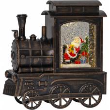 Светильник рождественский VINTER в форме паровоза, высота 17 см, коричневый