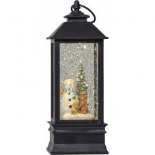 Светильник рождественский VINTER в форме фонаря, высота 27 см, коричневый