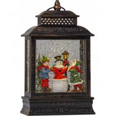 Светильник рождественский VINTER в форме фонаря, высота 27 см, ширина 16 см,коричневый