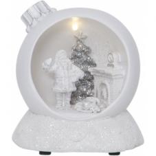 Светильник рождественский MERRYVILLE, на батарейках, 11 см, белый