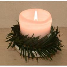 Венок - гирлянда хвойная, украшение для свечей диаметром до 5 см.