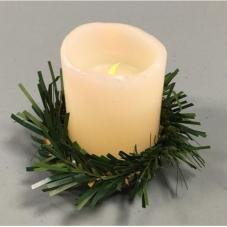 Венок - гирлянда хвойная, украшение для свечей диаметром до 7 см.