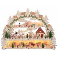 Светильник рождественский ДЕРЕВНЯ, 34 см