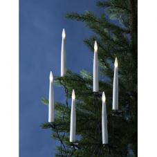 Гирлянда-свечи на прищепке SLIMLINE, 15,5 м, высота 15 см, зеленый провод