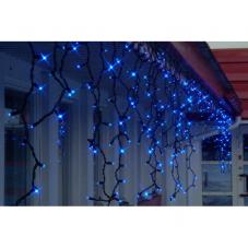 Гирлянда бахрома-расширение, 2х1 м, синий, черный провод, серия SYSTEM LED