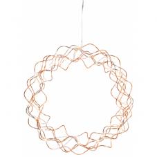 Светильник-подвес CURLY DEWDROPS, 30 см, медный