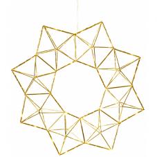 Светильник-подвес EDGE WREATH, 40 см, золотой