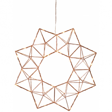 Светильник-подвес EDGE WREATH, 40 см, медный